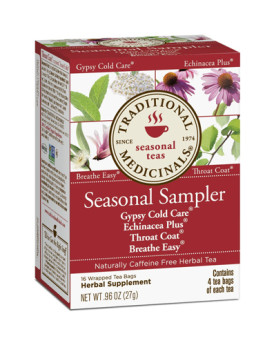 Traditional Medicinals Seasonal Herb Tea Sampler - Caffeine Free - 16 Bags
