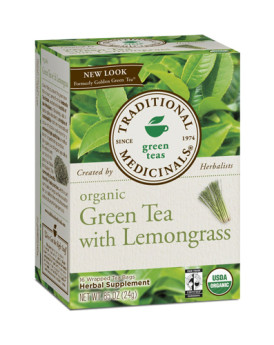 Traditional Medicinals Organic Golden Green Tea - 16 Bags