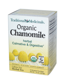 Traditional Medicinals Organic Chamomile Herbal Tea - 16 Tea Bags