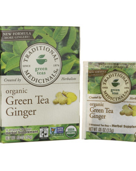 Traditional Medicinals Organic Green Tea Ginger - 16 Tea Bags
