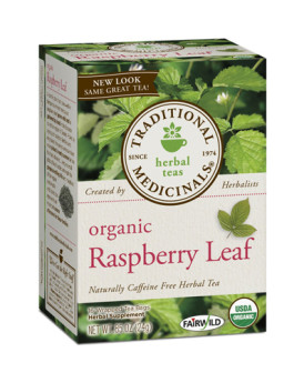 Traditional Medicinals Organic Raspberry Leaf Herbal Tea - Caffeine Free - 16 Bags