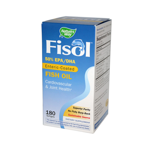 Nature's Way Fisol Fish Oil - 180 Softgels