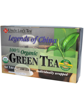 Uncle Lee's Legends of China Organic Green Tea - 100 Tea Bags