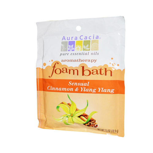 Aura Cacia Foam Bath Sensual Cinnamon and Ylang Ylang - 2.5 oz - Case of 6