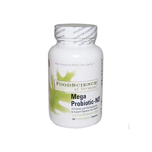 FoodScience of Vermont Mega Probiotic-ND - 120 Vegetarian Capsules