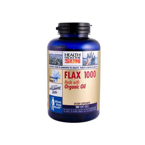 Health From the Sun Organic Flax 1000 Original Formula - 180 Softgels