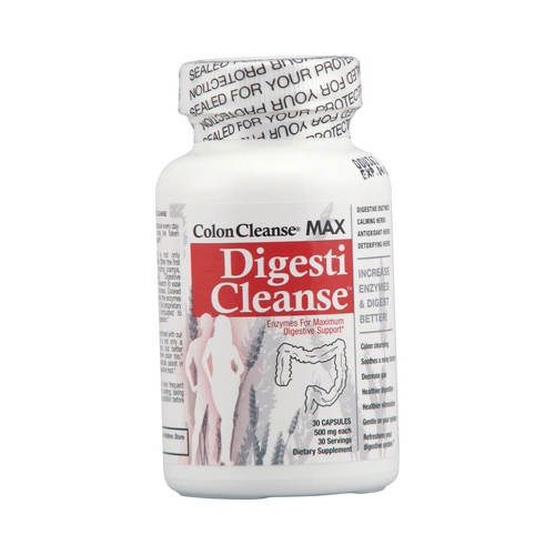 Health Plus Colon Cleanse MAX Digesti Cleanse - 500 mg - 30 Capsules