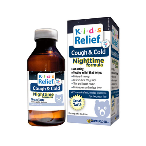 Homeolab USA Kids Relief Nighttime Cough and Cold - 100 ml