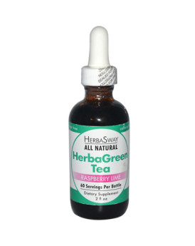 Herbasway Laboratories HerbaGreen Tea Raspberry Lime - 2 fl oz