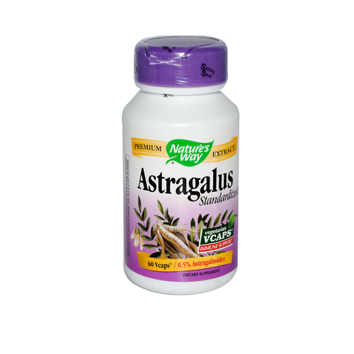 Nature's Way Astragalus Standardized - 60 Vegetarian Capsules