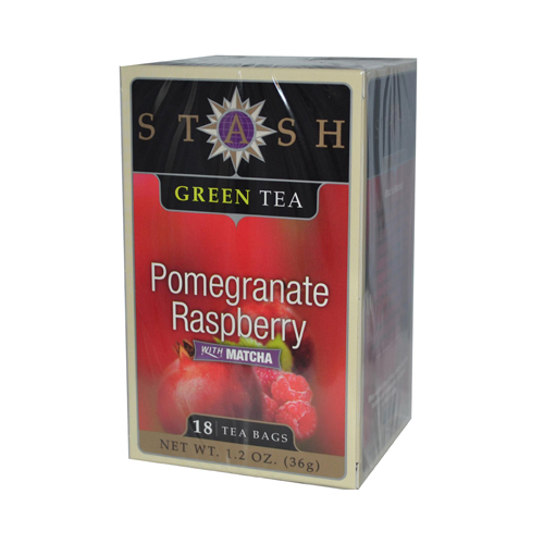Stash Pomegranate Raspberry Green Tea with Matcha - 18 Tea Bags - Case of 6