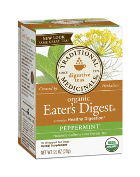Traditional Medicinals Eater's Digest - Caffeine Free - Case of 6 - 16 Bags