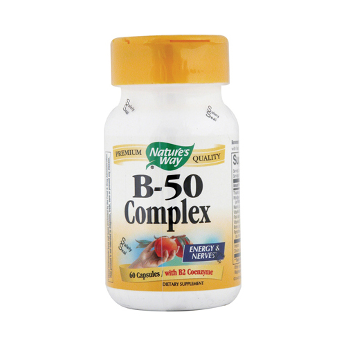 Nature's Way Vitamin B-50 Complex - 60 Capsules