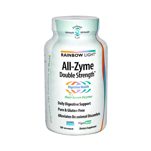 Rainbow Light All-Zyme Double Strength - 120 + 60 Free Vegetarian Capsules