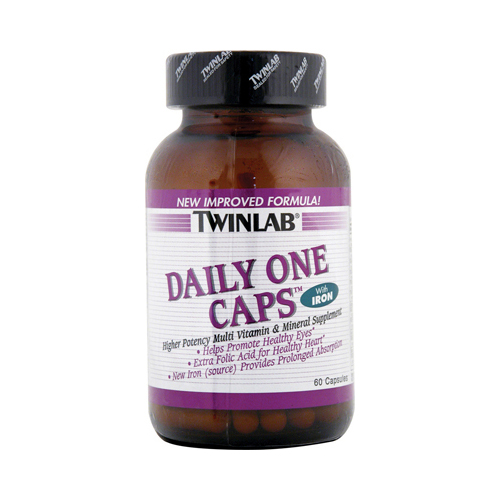 Twinlab Daily One Caps with Iron - 60 Capsules