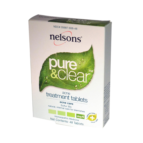 Nelsons Pure and Clear Acne Treatment Tablets - 48 Tablets