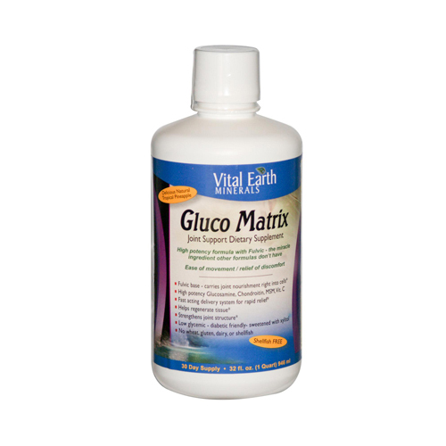 Vital Earth Minerals Gluco Matrix - 32 fl oz