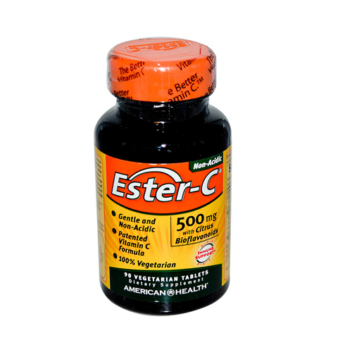 American Health Ester-C with Citrus Bioflavonoids - 500 mg - 90 Vegetarian Tablets