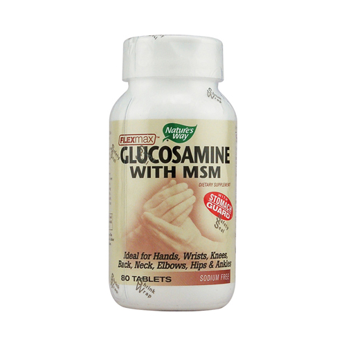 Nature's Way FlexMax Glucosamine with MSM - 80 Tablets