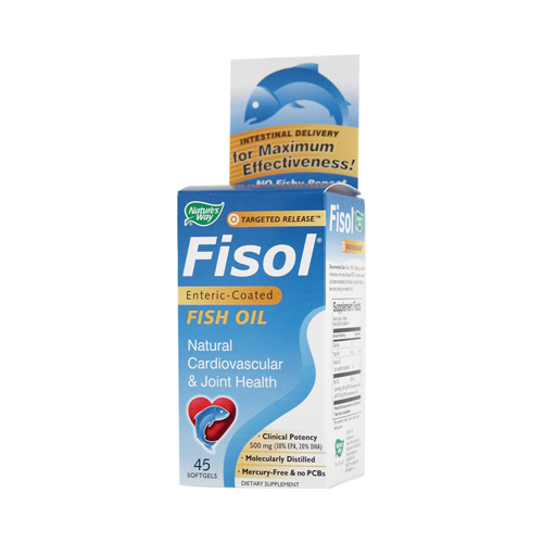Nature's Way Fisol Fish Oil - 45 Softgels