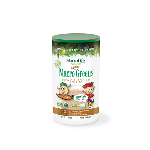 MacroLife Naturals Jr. Macro Coco-Greens for Kids Chocolate - 3.3 oz