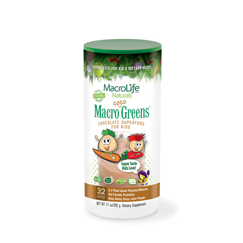 MacroLife Naturals Jr. Macro Coco-Greens for Kids Chocolate - 7.1 oz
