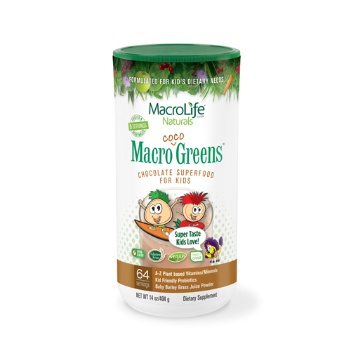 MacroLife Naturals Jr. Macro Coco-Greens for Kids Chocolate - 14 oz