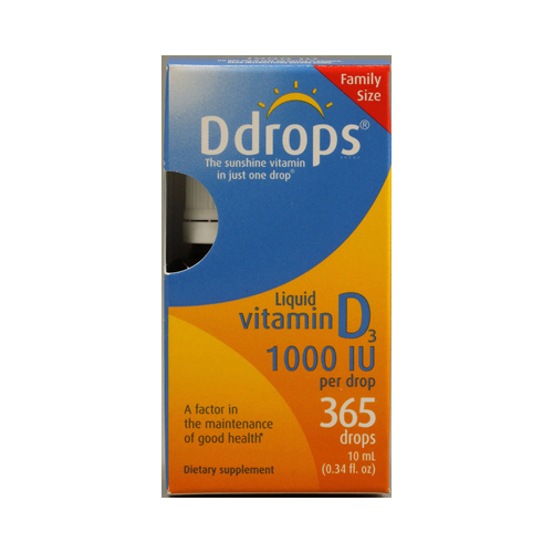 D Drops Liquid Vitamin D3 - 1000 IU - 0.34 fl oz