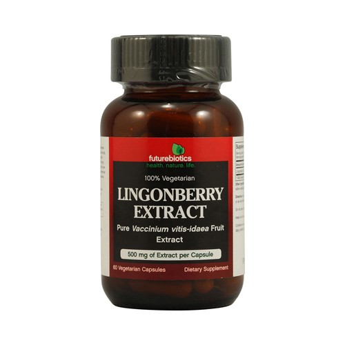 FutureBiotics Lingonberry Extract - 500 mg - 60 Vegetarian Capsules