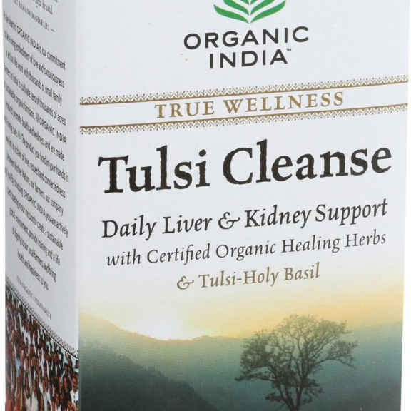 Organic India Organic Tulsi Wellness Tea - Cleanse - 18 Tea Bags - Case of 10