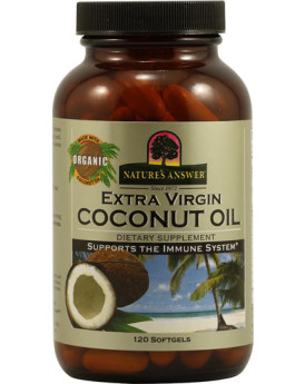 Nature's Answer Extra Virgin Coconut Oil - 120 Softgels