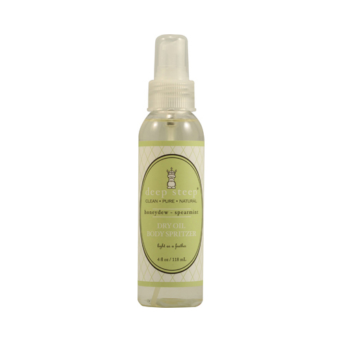 Deep Steep Dry Oil Body Spritzer Honeydew Spearmint - 4 fl oz