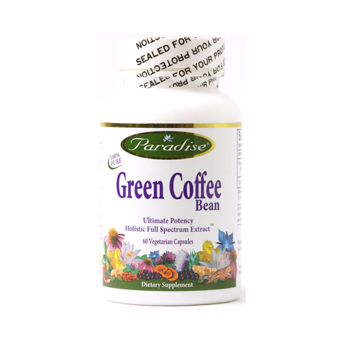 Paradise Herbs Green Coffee Bean - 60 Vegetarian Capsules