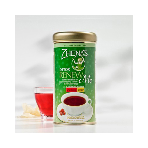 Zhena's Gypsy Tea Renew Me Cranberry Ginger - Case of 6 - 22 Bags