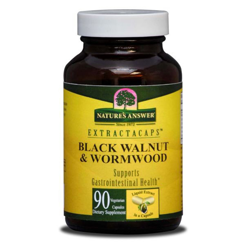 Nature's Answer Black Walnut and Wormwood - 90 Liquid Capsules