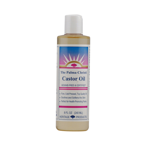 Heritage Products Castor Oil Hexane Free - 8 fl oz