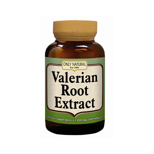 Only Natural Valerian Root Extract - 60 softgels