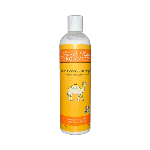 Nature's Baby Organics Conditioner and Detangler - Vanilla Tangerine - 12 fl oz