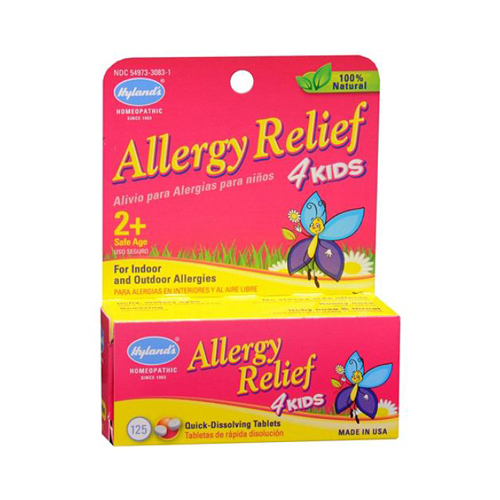Hylands Homeopathic Allergy Relief 4 Kids - 125 Tablets