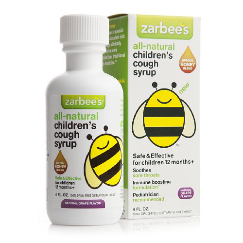 Zarbee S All Natural Children S Cough Syrup Grape 4 Oz