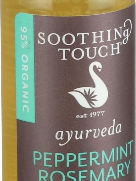 Soothing Touch Bath Body and Massage Oil - Organic - Ayurveda - Peppermint Rosemary - Muscle Comfort - 4 oz