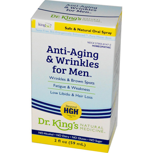 King Bio Homeopathic Anti Aging and Wrinkles - Men - 2 oz