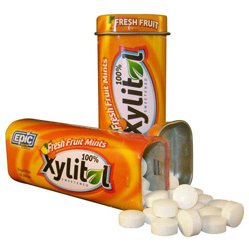Epic Dental Mints - Fresh Fruit Xylitol Tin - 60 ct - Case of 10