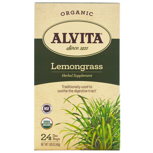 Alvita Tea - Organic - Lemongrass Herbal - 24 Tea Bags