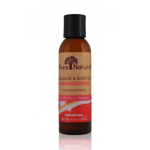 Shea Natural Massage and Body Oil - Energizing Grapefruit Pomelo - 4 oz