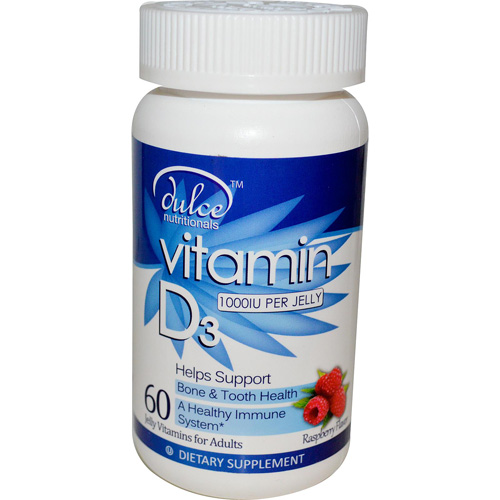 Dulce Vitamin D3 - 10,000 IU - Jelly Vitamins - 60 Count