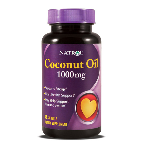Natrol Coconut Oil - 1000 mg - 45 Softgels