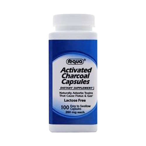 Requa Activated Charcoal - 260 mg - 100 Capsules
