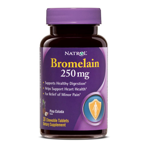 Natrol Bromelain - 250 mg - Chewable - 30 Tablets