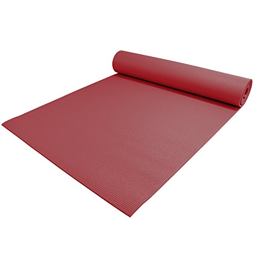 YogaAccessories-TM-14-Extra-Thick-High-Density-Yoga-Mat-Phthalate-Free-Burgundy-0-2